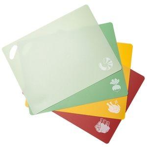 epare Plastic Cutting Board Mat Set of 4 New